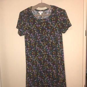 Like new black floral XS LuLaRoe Carly dress